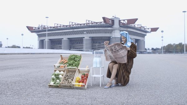 Francesca selling vegatables at San Siro thumbnail