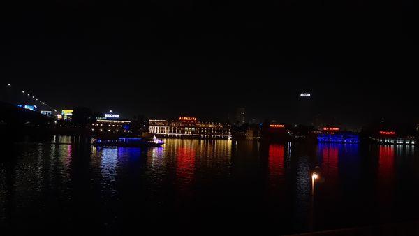 Shiny Lights on the Nile at Night thumbnail