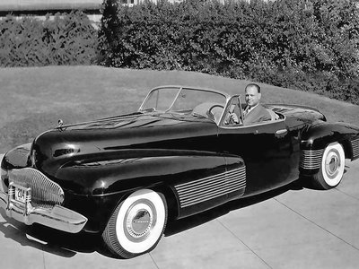 """GM's head of design Harley Earl drove the """"Y-job"""" to and from work for 11 years."""