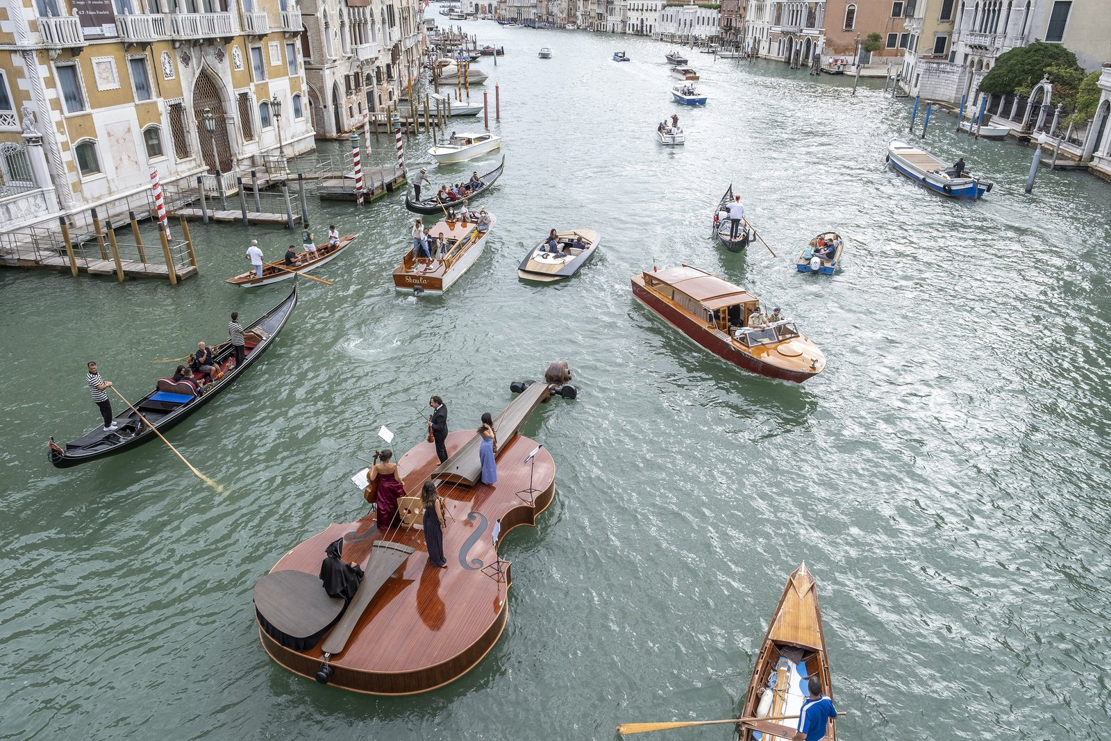 Why a String Quartet Set Sail on a Giant Violin in Venice's Grand Canal