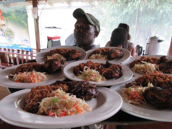 Jerk Chicken Dinner In the Blue Mountains of Jamaica thumbnail