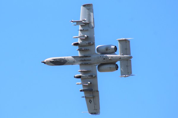 An A-10 flying over Moody Air Force Base thumbnail