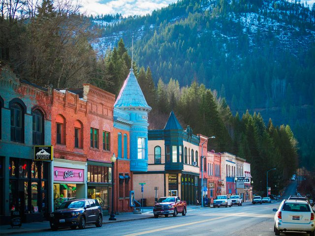At the foot of North Idaho's Bitterroot Mountains sits Wallace, an incredibly resilient, Old West mining town.