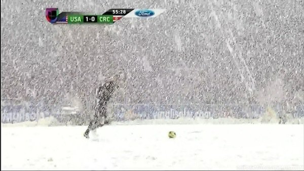 It Snowed So Hard During This Soccer Game That Costa Rica Wants a Rematch With the U.S.
