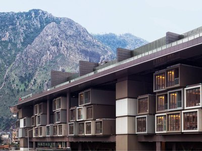 """The new Museum Hotel Antakya in Turkey """"floats"""" above ancient ruins."""