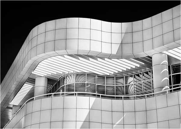 The Getty Center In Black And White thumbnail