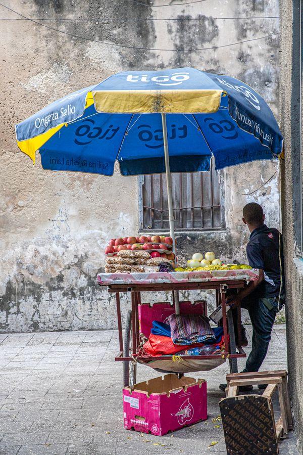 Street Vendor Stone Town, Zanzibar thumbnail