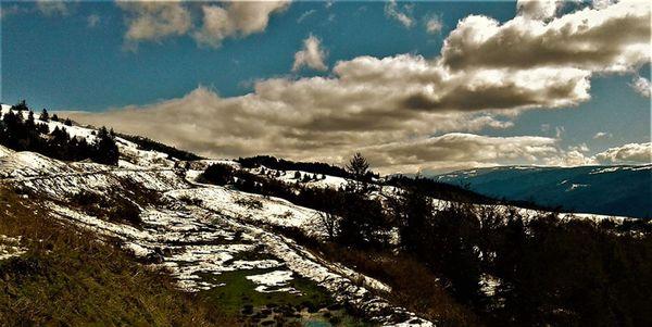 California Highway 299 in Winter thumbnail