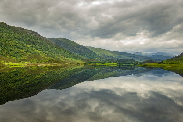 A perfect reflection of a Scottish Loch thumbnail