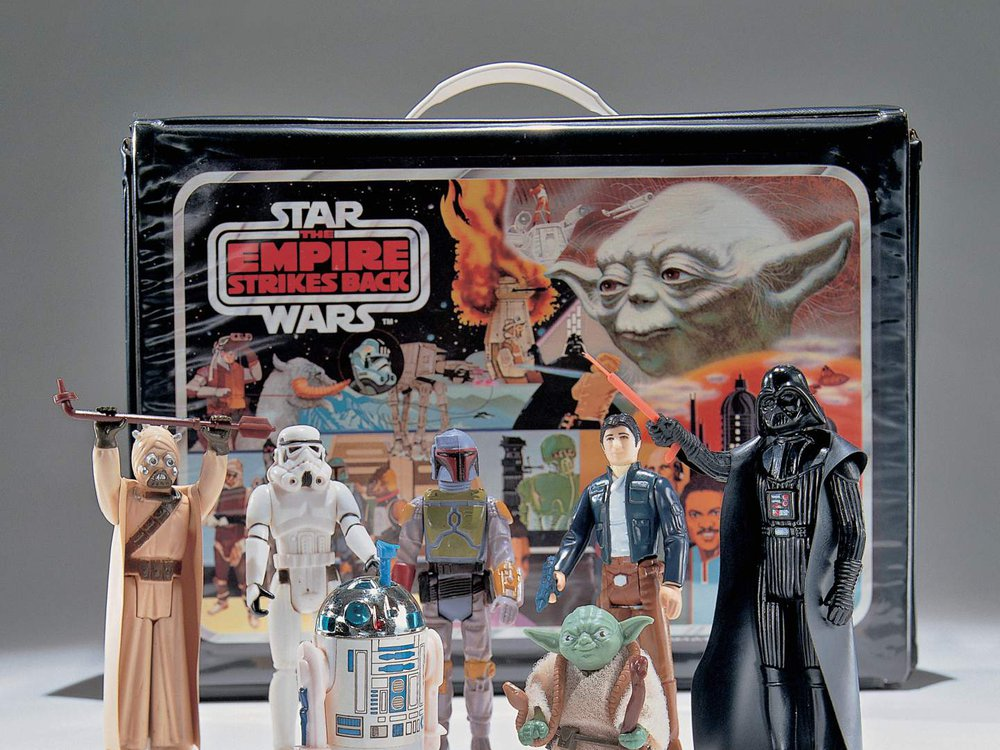 A set of Star Wars toys manufactured for the release of The Empire Strikes Back, 1980. This set was donated to the Museum in 1997 from a private donor, Michael O'Harro. Credit: Eric Long, National Air and Space Museum.