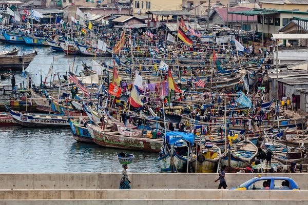 Fishing Port in Takoradi, Ghana on Tuesday: no take day thumbnail
