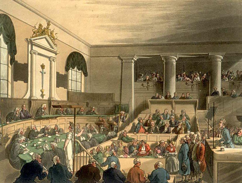 An Old Bailey trial, circa 1808