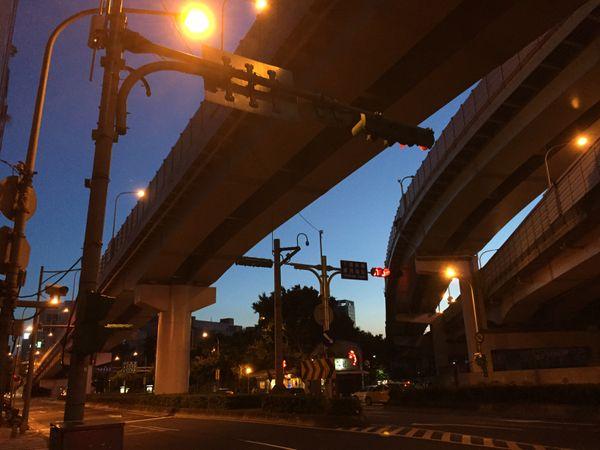 Night sky under highway thumbnail