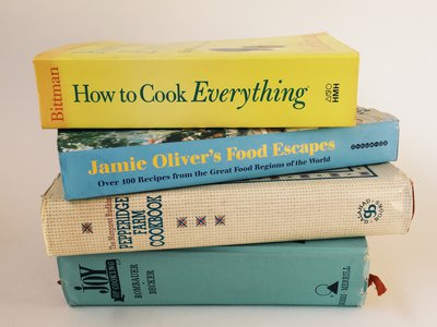 Lynne Olver's personal library contains more than 2,300 food-related books.