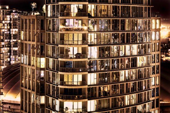 CDXXXVIII / 0438 Voyeur Nocturne impression of Yaletown Condo Highrise. thumbnail