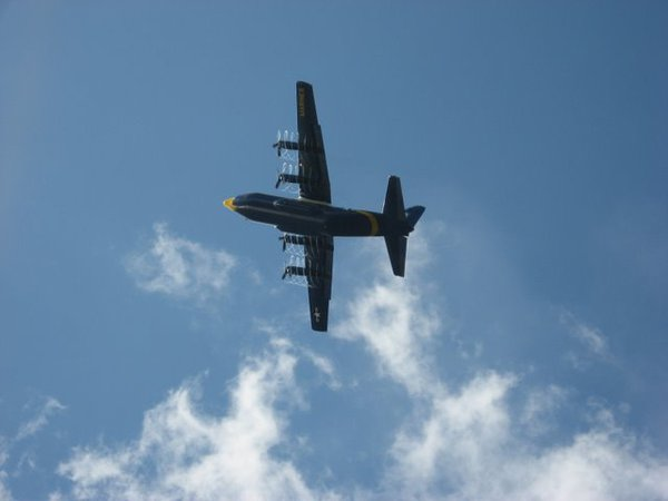 USN Fat Albert with contrails thumbnail