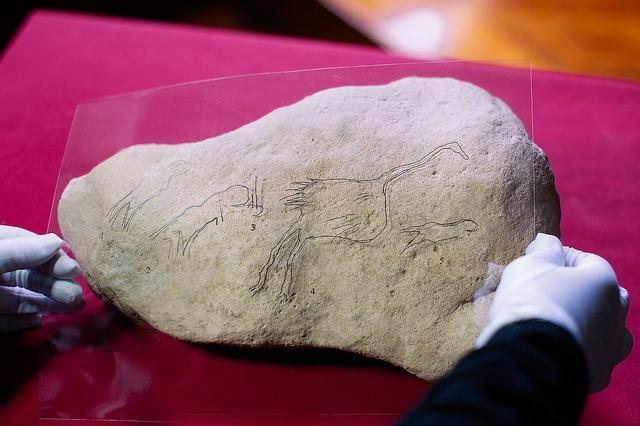 Human Bird Rock Art