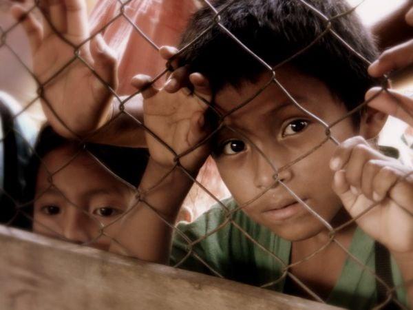 Young Kekchi children waiting for medical treatment. thumbnail