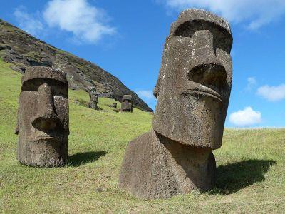 Moai statues at the Rano Raraku site on Easter Island