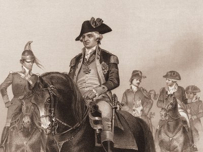 Baron Friedrich Wilhelm von Steuben was a Prussian soldier designated inspector general of the American Continental Army. He was in charge of training the troops in 1778 during the period of the American Revolutionary War.