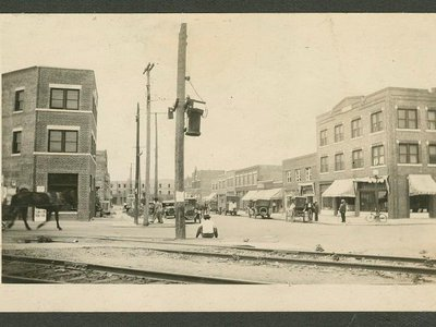 """Prior to the 1921 Tulsa Race Massacre, the thriving neighborhood of Greenwood, Oklahoma (seen here in 1920), was nicknamed """"Black Wall Street."""""""