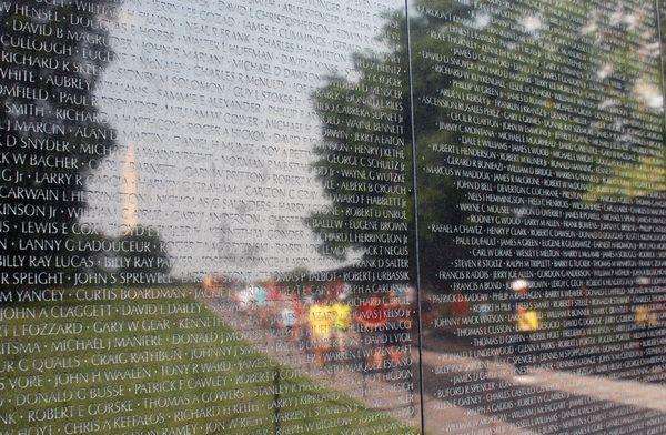Reflections of Summer on the Vietnam Veterans Memorial Wall thumbnail