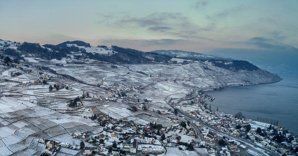 Aerial snow vineyards thumbnail