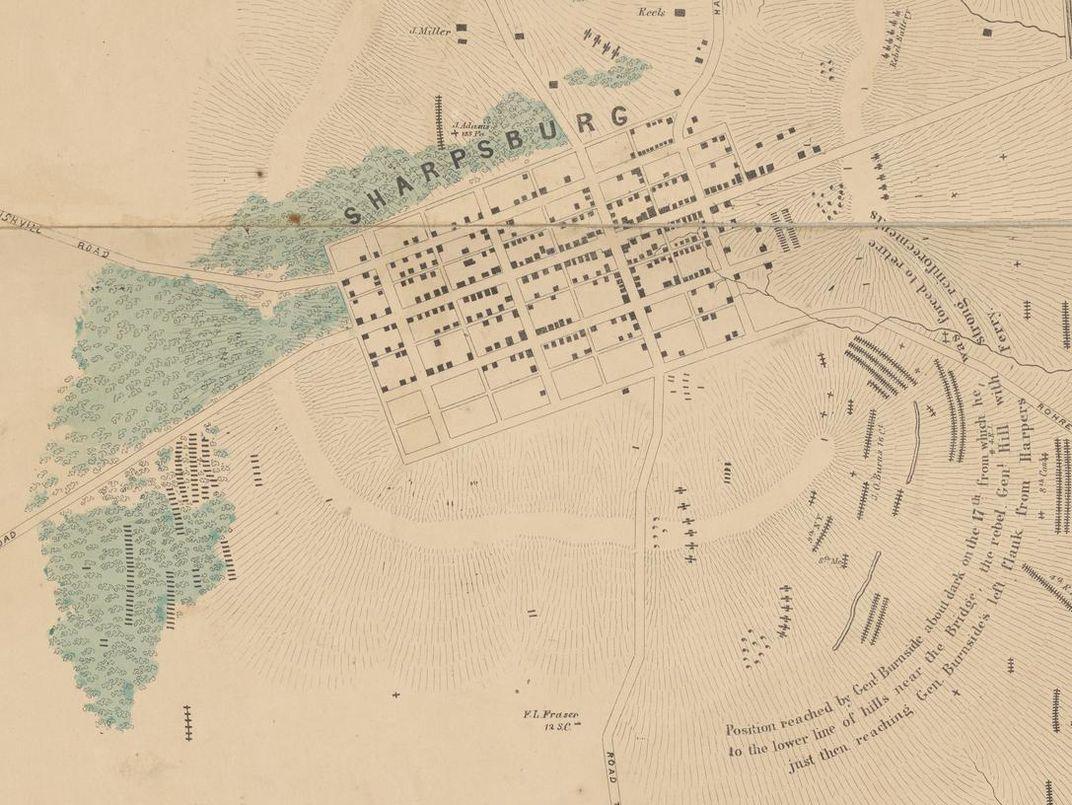 Forgotten Antietam Battlefield Map Shows Locations of Thousands of Graves