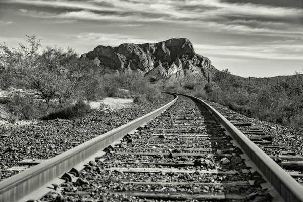 The Mountains of AZ stand firm as the Railroad heads north thumbnail