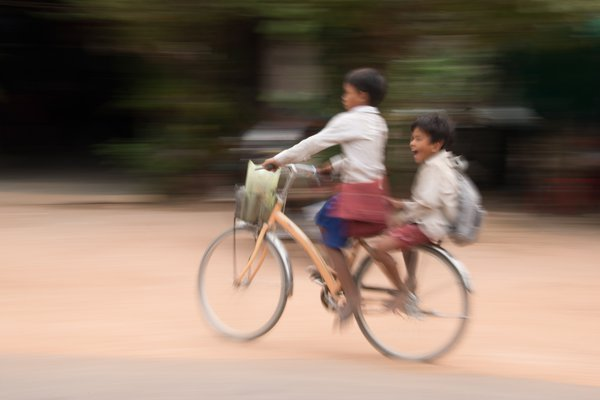 Cambodian boys rejoice at the end of the school day thumbnail