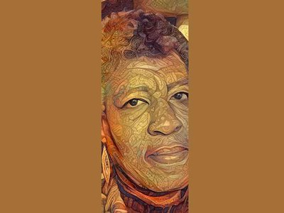 """""""I had 'Earthseed' in mind when I created the portrait of Octavia Butler. Parable of the Sower is one of my favorites of Butler's novels,"""" says Nettrice Gaskins."""