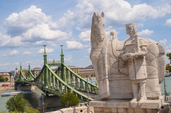 View to Chain Bridge in Budapest thumbnail