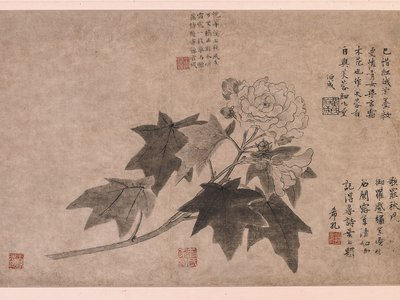 The delicate painting in question depicts a hibiscus,  a symbol of autumn.