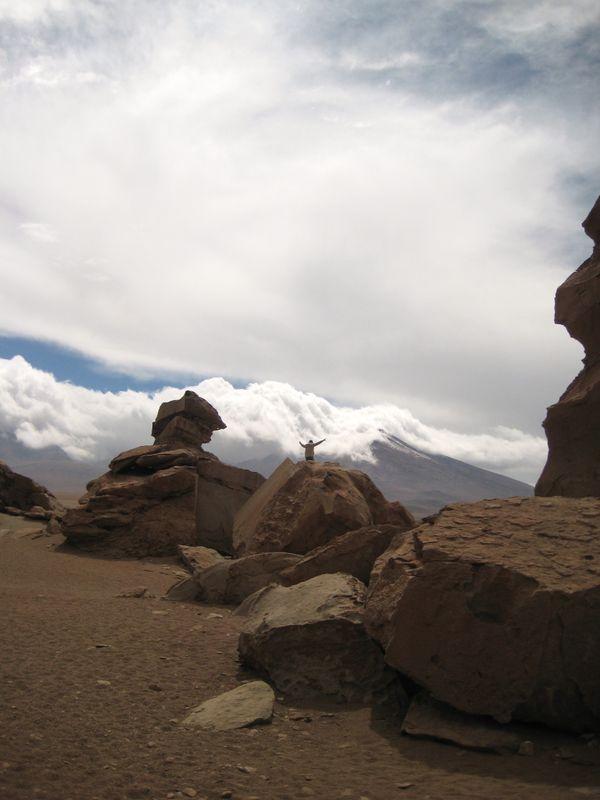 A man celebrates beauty in Salar de Uyuni, Bolivia. thumbnail