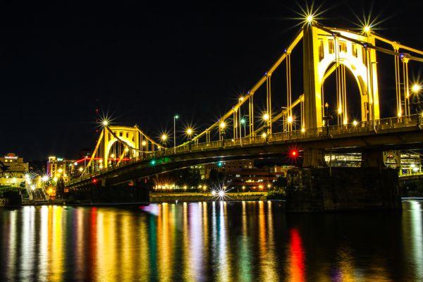 Roberto Clemente Bridge at Night thumbnail