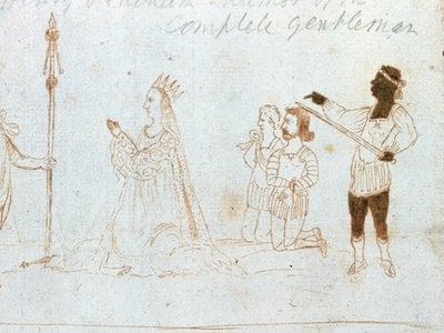 This drawing of a performance of Shakespeare's Titus Andronicus has given scholars an understanding of how blackface was used in Elizabethan England.