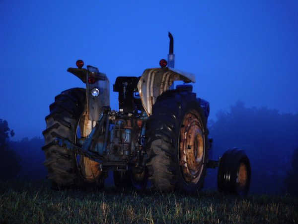 Old Ford Tractor at Dusk thumbnail