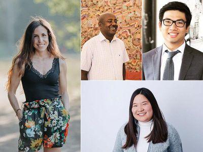 (Clockwise from left) Michela Puddu, Elias Sime, Richard Yim and Miranda Wang