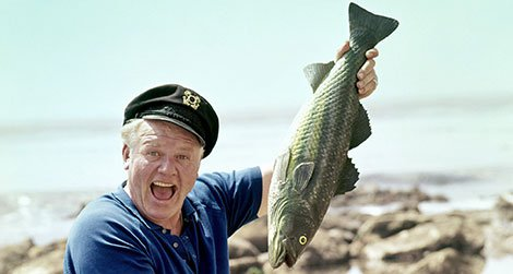 The Skipper got a bite!