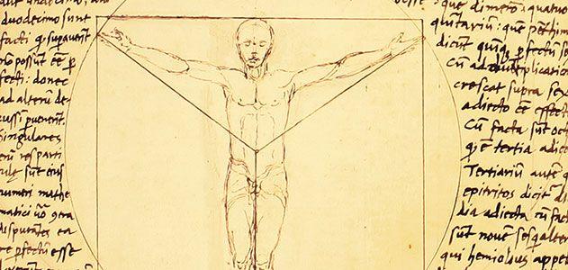 Vitruvian Man manuscript