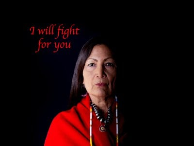 U.S. Representative Deb Haaland offered to stand in for the missing and deceased.
