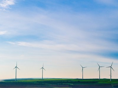 One concern about wind turbines is that they are noisy, but the Department of Energy notes that at a distance of 750 feet, they make about as much noise as a household fridge.