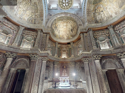 A virtual view of the Red Monastery, one of five Egyptian heritage sites newly detailed in 3-D