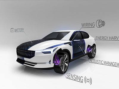 Leif Asp envisions a car with a body that acts as an energy source.