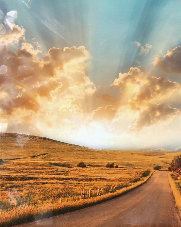 Golden Sunset Across a Country Road thumbnail