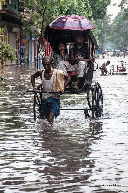 Flooded streets in Kolkata