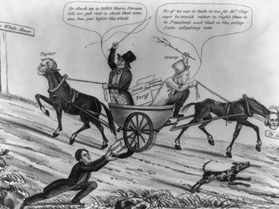 The split in the Whig party over slavery spelled its doom.