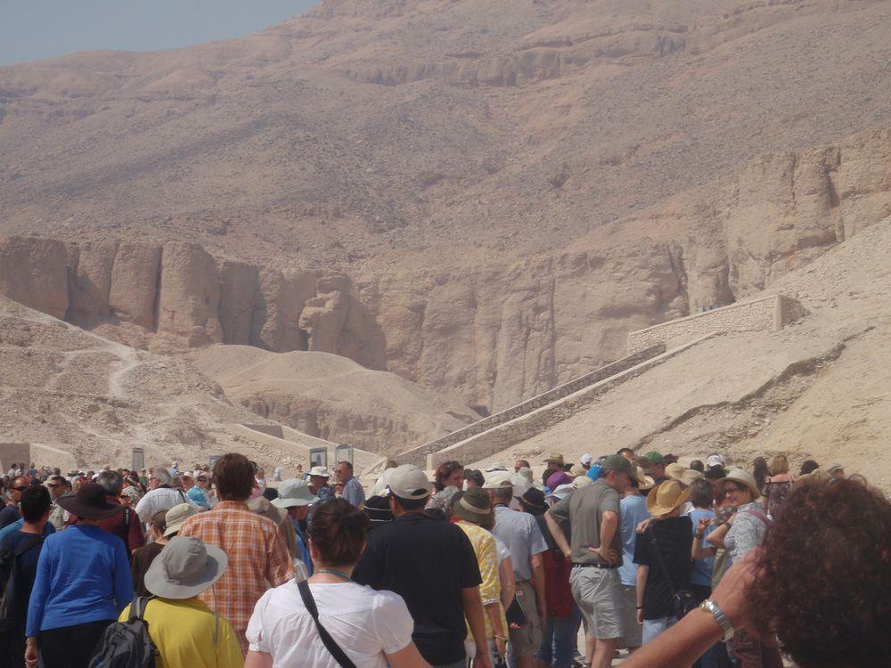 Tourists Outside King Tut's Tomb