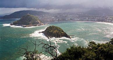 San Sebastian where condos dot the beach