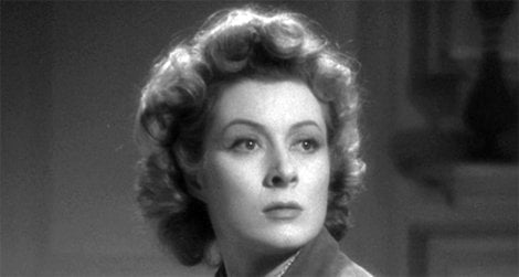 Making a case for war: Greer Garson in Mrs. Miniver.